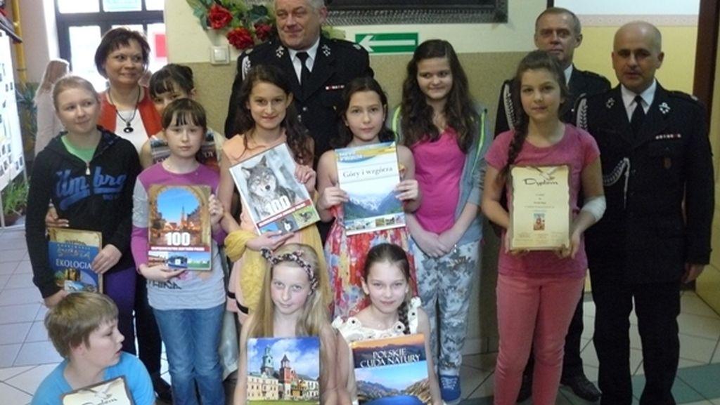 Rozdanie nagród za Szkolny Konkurs Pożarniczy