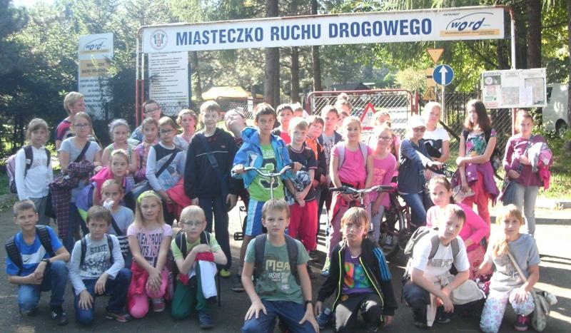 Lekcja jazdy rowerem w  Miasteczku Ruchu Drogowego w Bielsku-Białej – 30 września 2014 roku