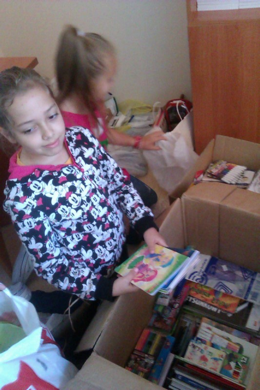 Dary dla uczniów z Białorusi.