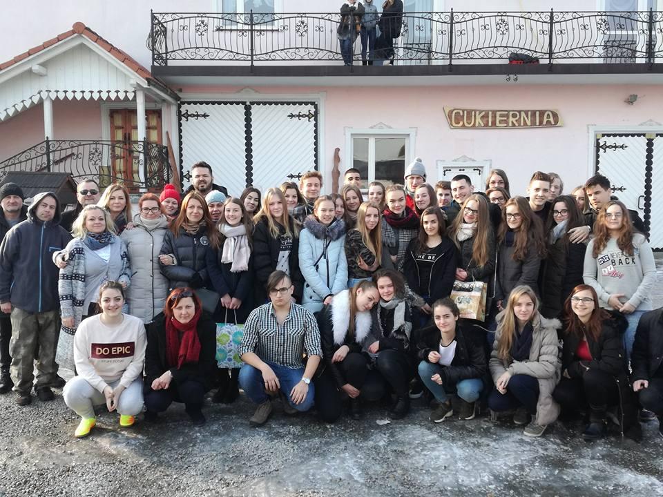 Wizyta węgierskich uczniów w naszej gminie w ramach programu Erasmus +