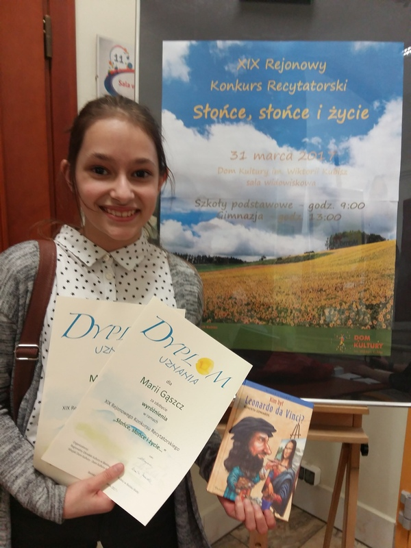 Gratulacje dla Marysi Gąszcz!