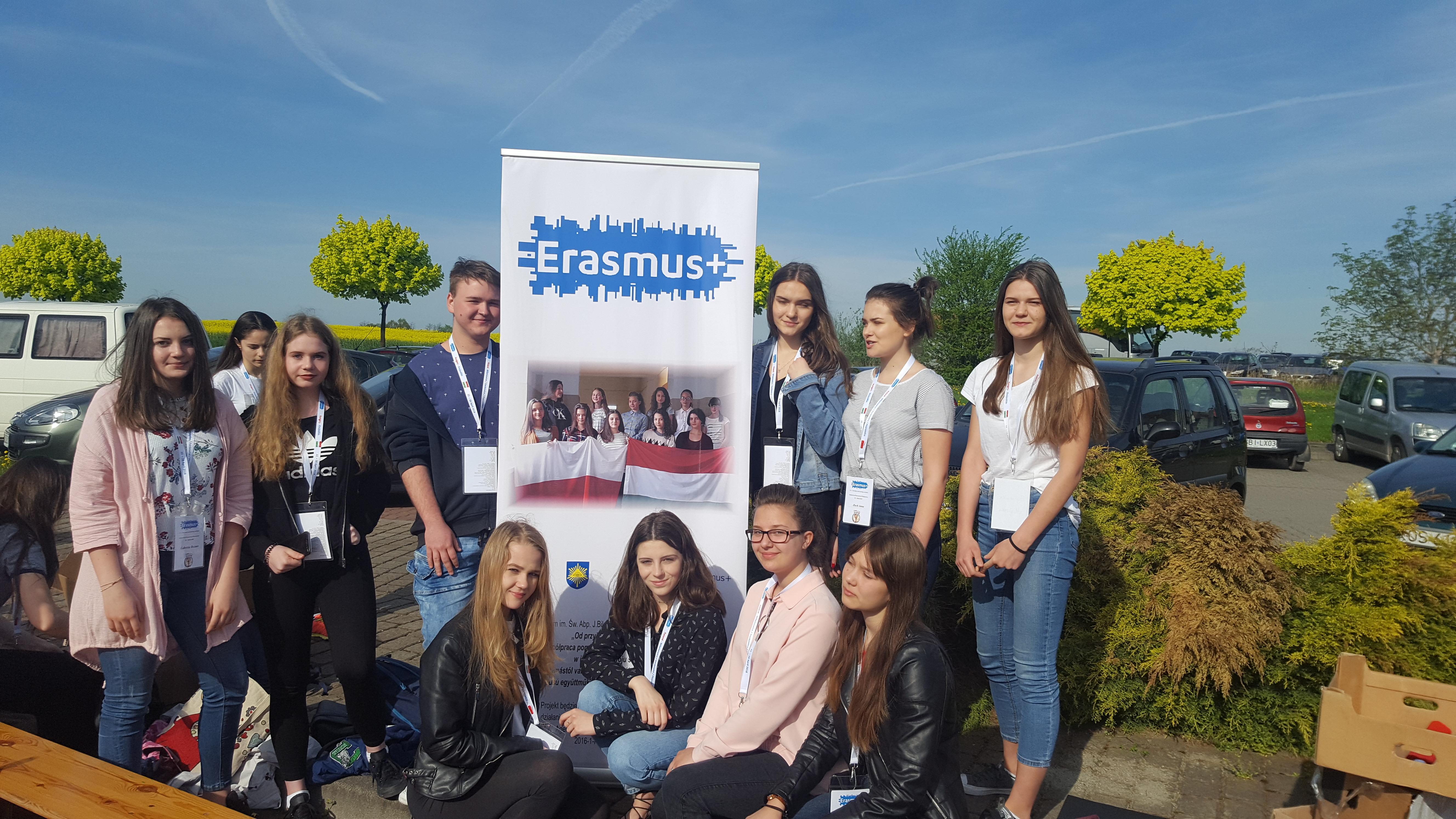 Erasmus+, kolejne spotkanie uczniów naszej szkoły z kolegami z Węgier.