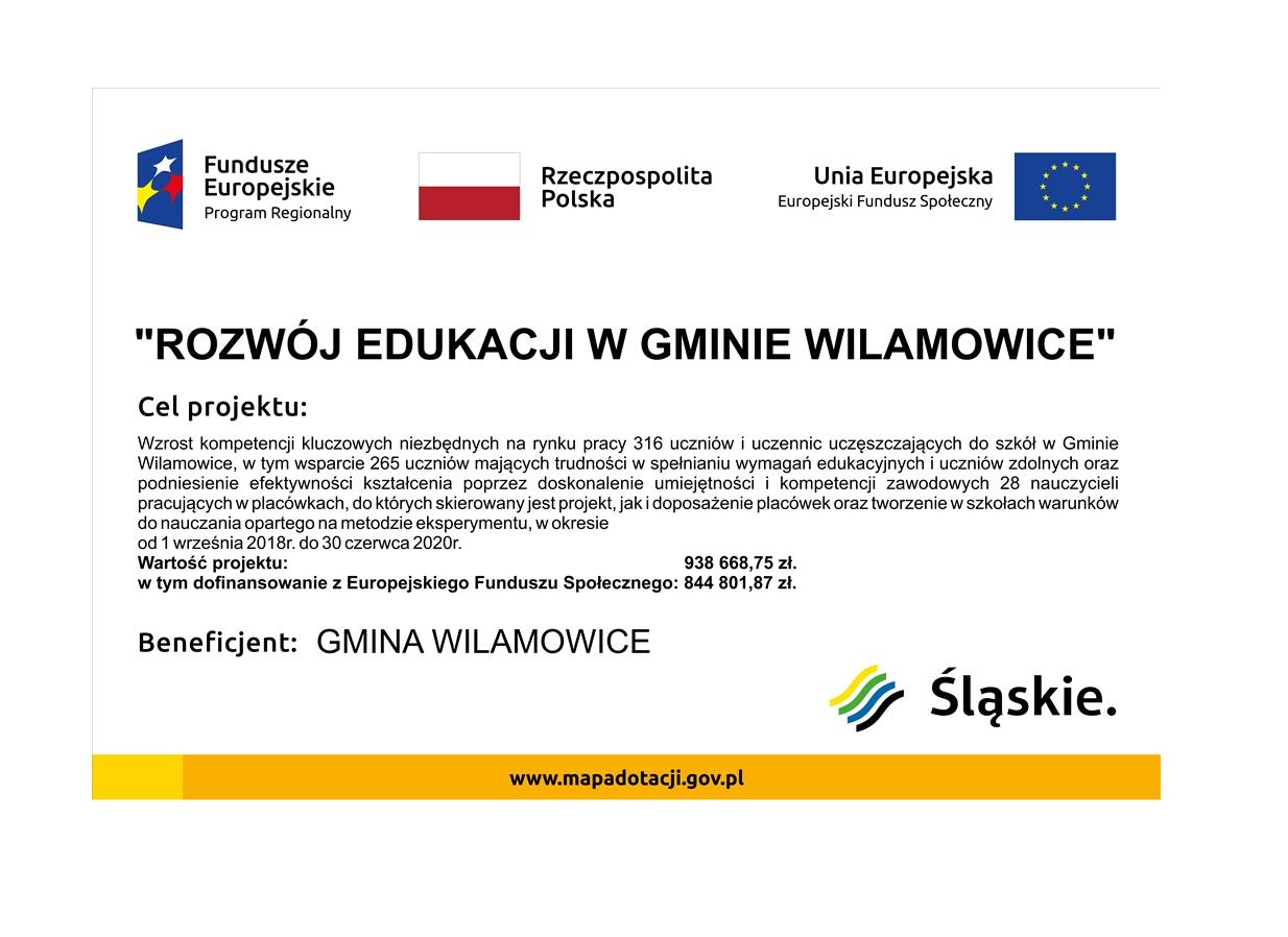 Unia Europejska znowu doceniła i dofinansowała projekt edukacyjny Gminy Wilamowice