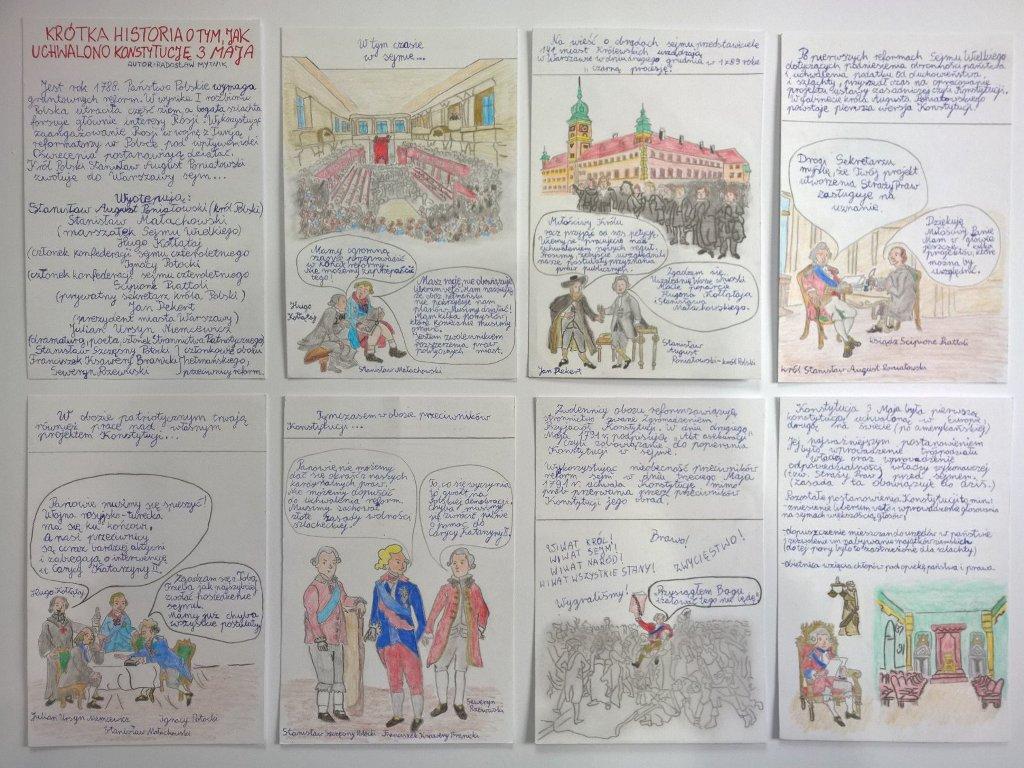 """""""Majowe Świętowanie – osobno a jednak razem""""- e-learning w Zespole Szkół  w Wilamowicach"""
