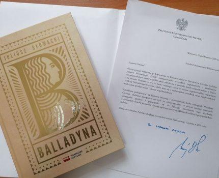 Podziękowania od Prezydenta RP-Narodowe Czytanie.