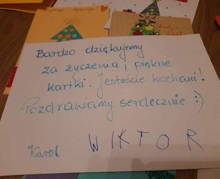 Kartki dla braci-akcja Wolontariatu.